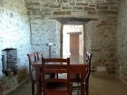 Dining Room with ancient glass oven.