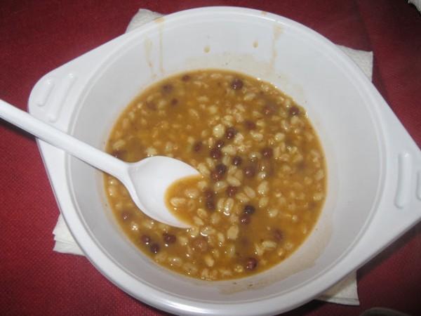 Buonissima zuppa di roveja - rich mountain flavor