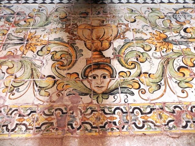 Detail of floor tiles by Nicola Giustiniani