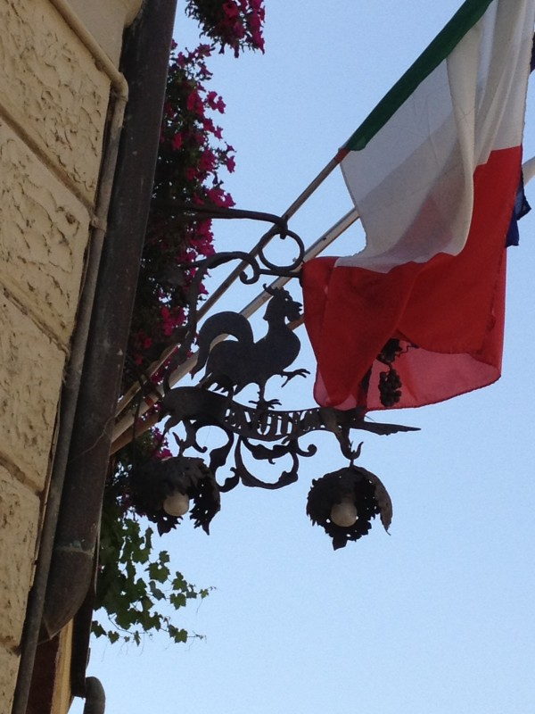 Black Rooster & Flag of Italy