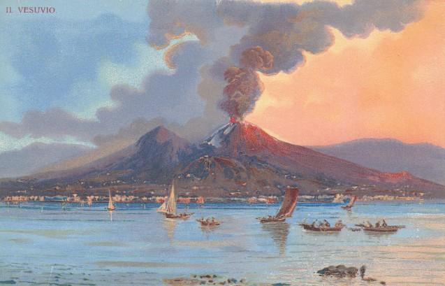Il Vesuvio, S. Heidesheimer & Co. postcard ca.1905
