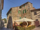 The main piazza is just steps from L'Antica Vetreria.